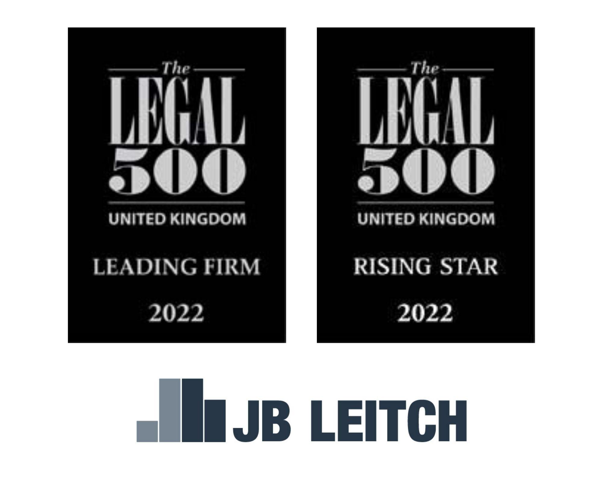 JB Leitch Celebrates Legal 500 Success for 2022